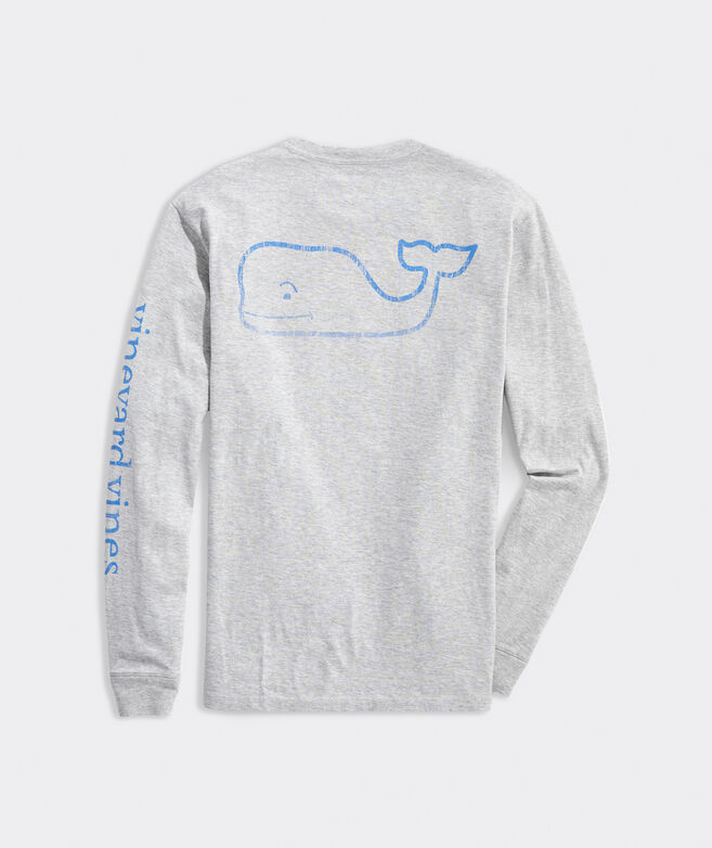 Faded Vintage Whale Long-Sleeve Pocket Tee