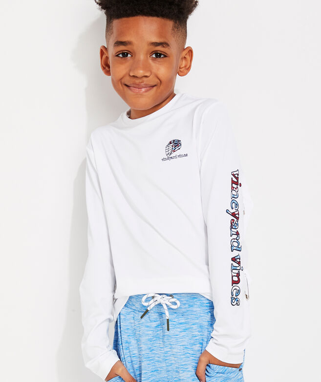 Boys' Tie Dye Bro Long-Sleeve Performance Tee