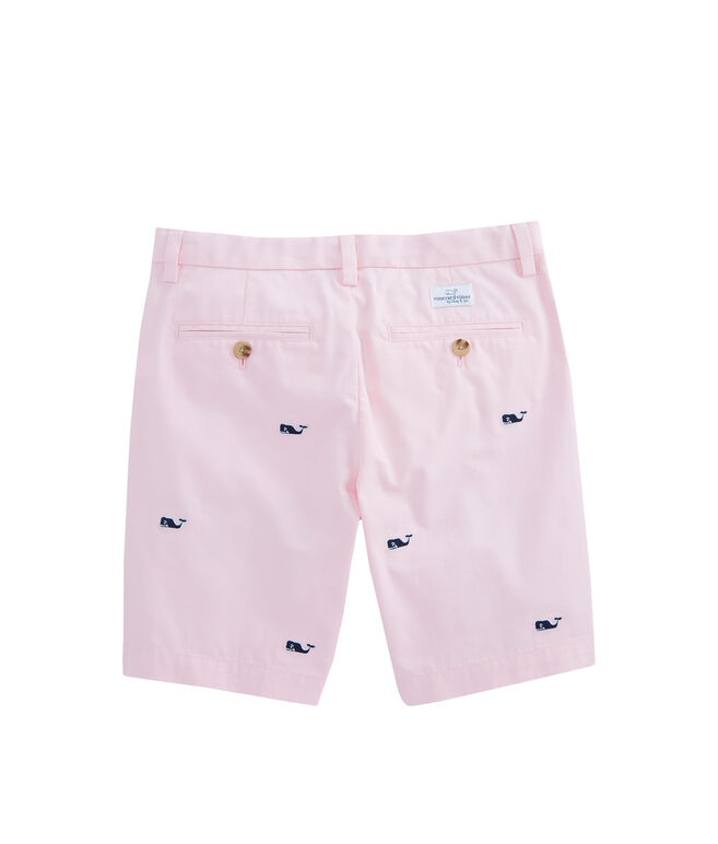 Boys Whale Embroidered Breaker Shorts
