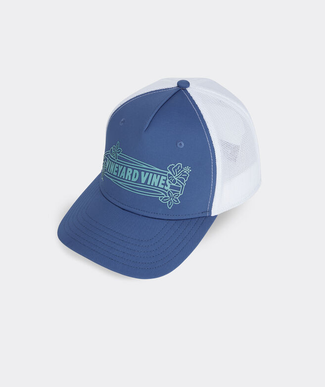 Surfboard Logo Performance Trucker Hat