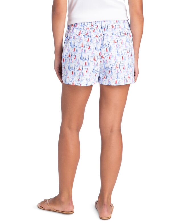 Painted Sailboats Harbor Shorts