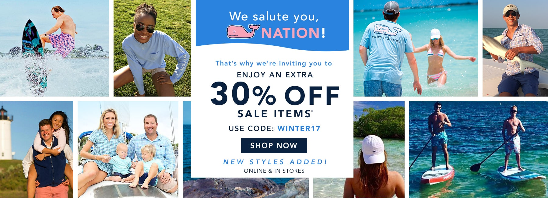 30% off sale items. Use code WINTER17. Shop Now.