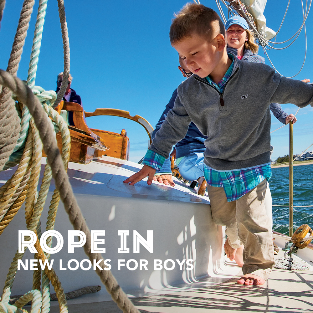Rope in New Looks for Boys. Boys New Arrivals.