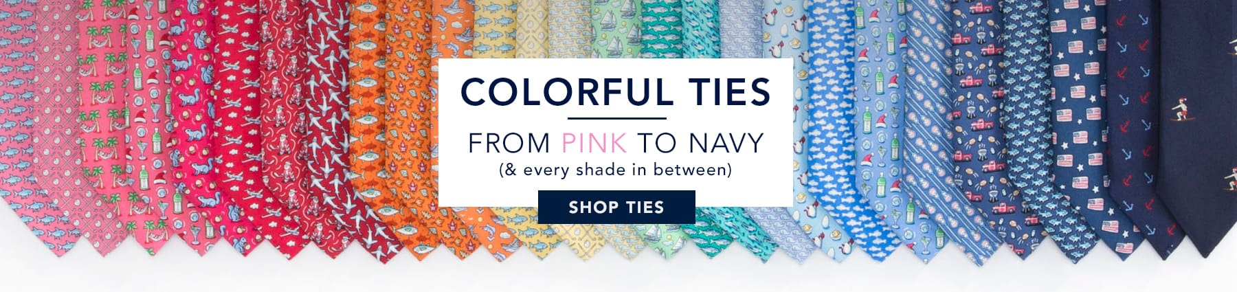 Colorful ties from pink to navy (& every shade in between.) Shop Ties.