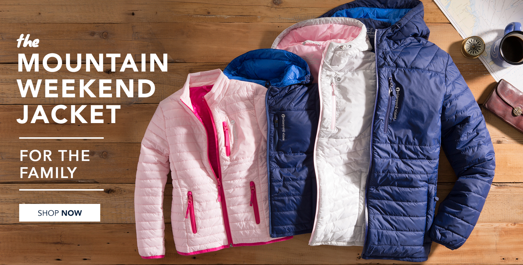 The mountain weekend jacket for the family. Shop mountain weekend jackets now.