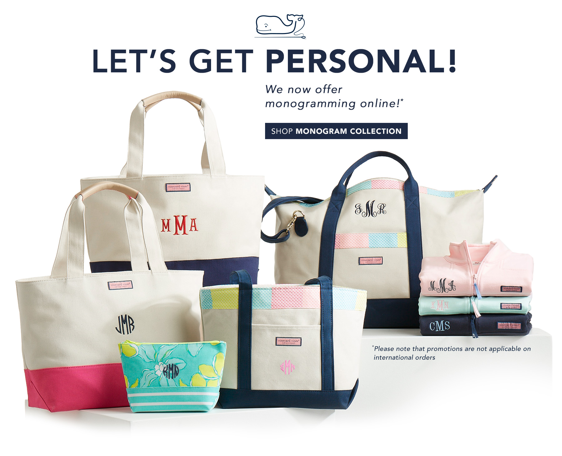 Lets get personal! We now offer monogramming online! Shop Monogram Collection.