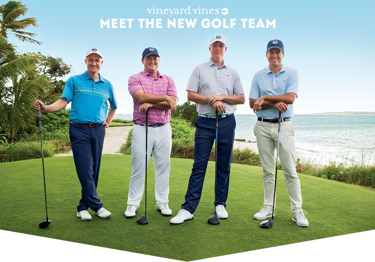 vineyard vines. Meet the new golf team.