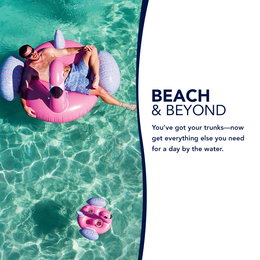 Beach & Beyond: You've got the trunks - now get everything else you need for a day by the water.