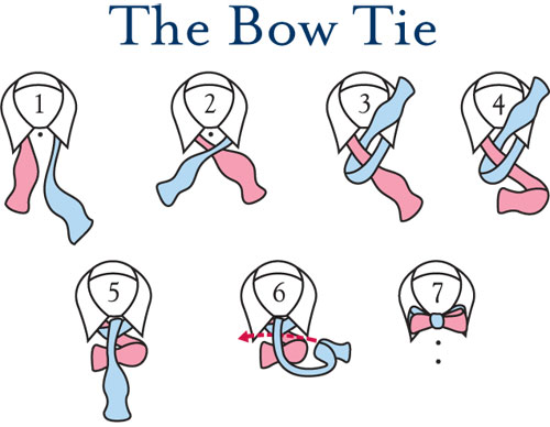 Types of tie knots how to tie a bow tie windsor and half windsor adjust your tie so that the left side is slightly longer blue than the right pink 2 cross the long end over the short ccuart