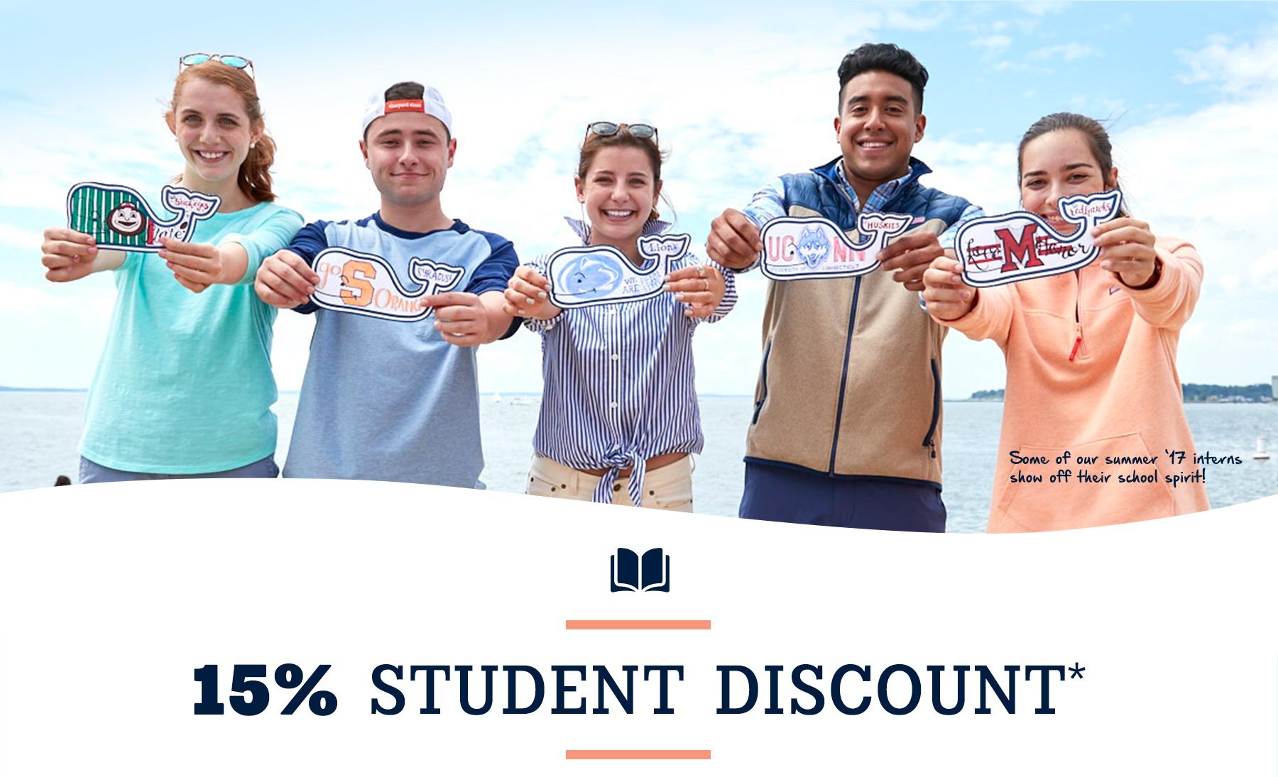 15% Student Discount.