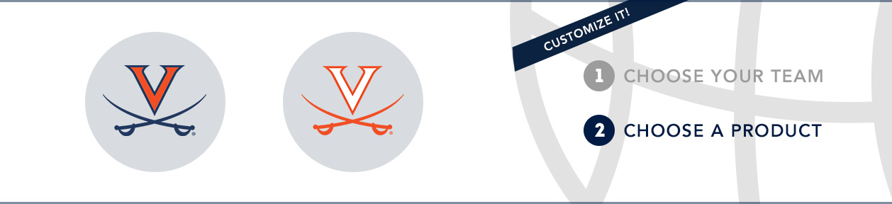 Virginia Team Shop: 1) Choose your team. 2) Choose your product. Shop Here.