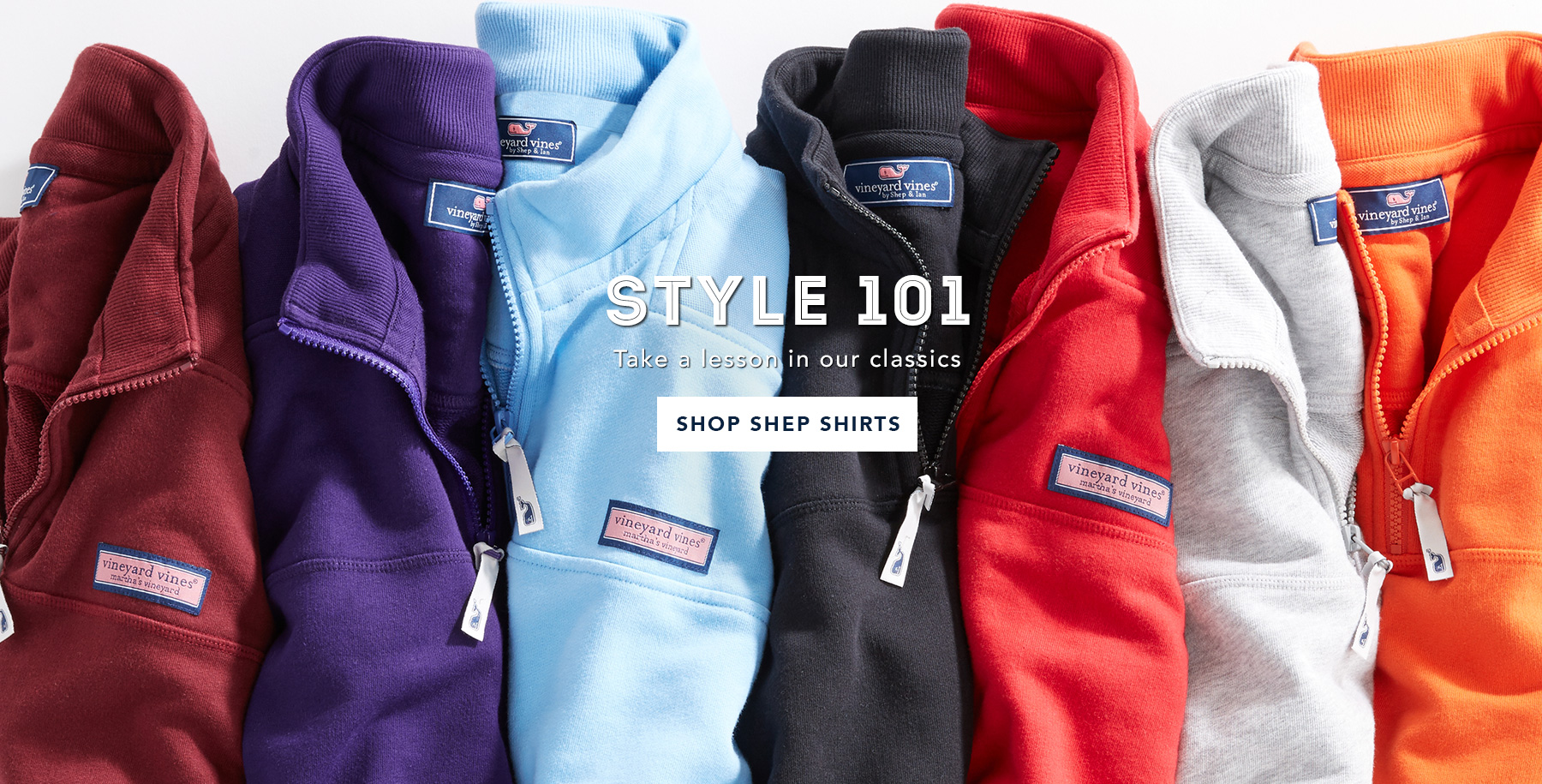 Style 101. Take a lesson in our classics. Shop Shep Shirts.