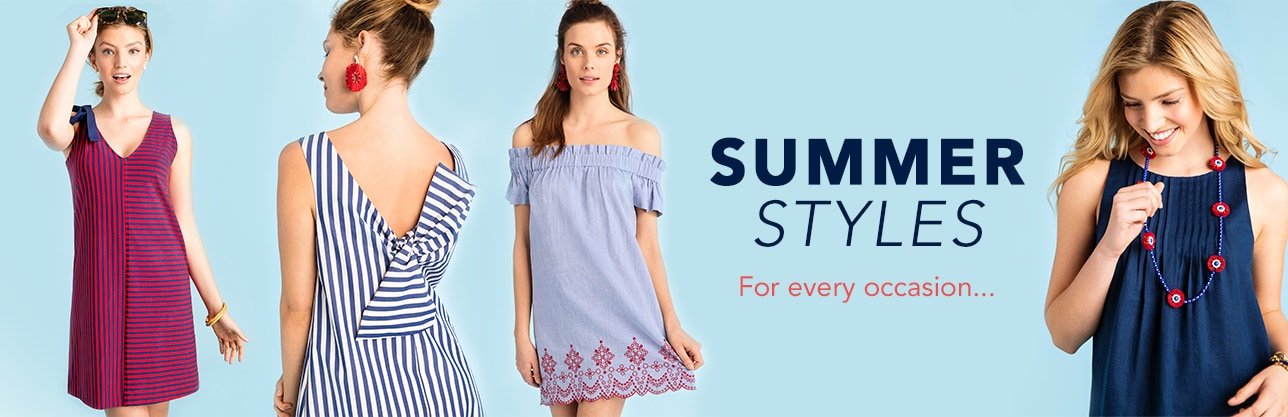 Summer Styles for Every Occassion. Shop Now