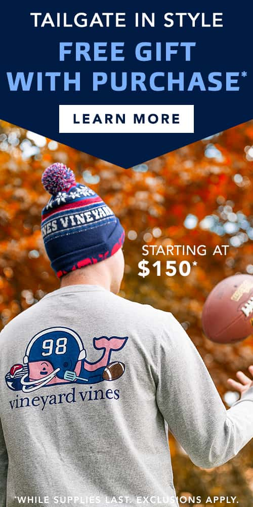 Tailgate In Style Free Gift With Purchase. Use Code TAILGATE18.