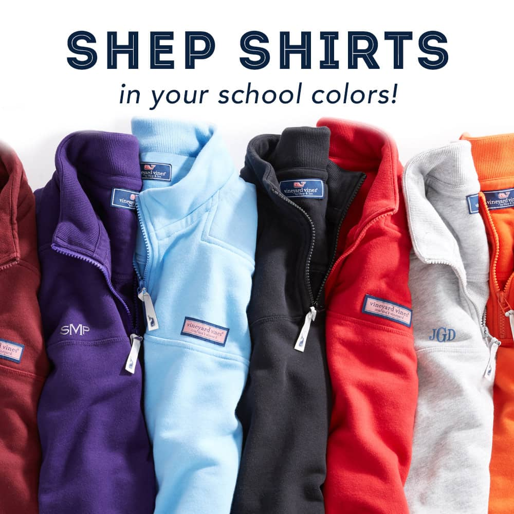 Shep Shirts in your school colors!