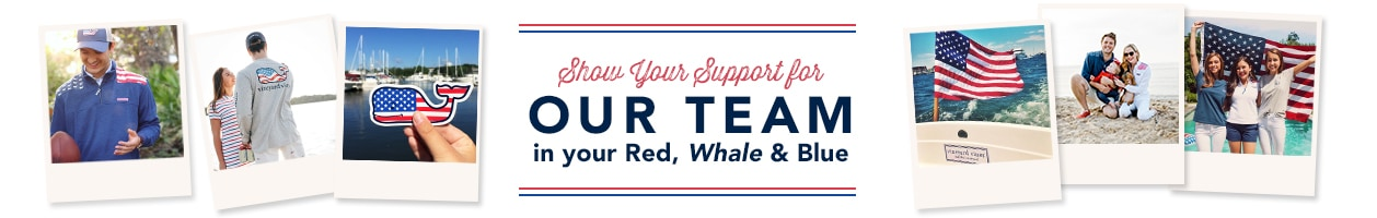 Show your support for Our Team in your Red, Whale & Blue.