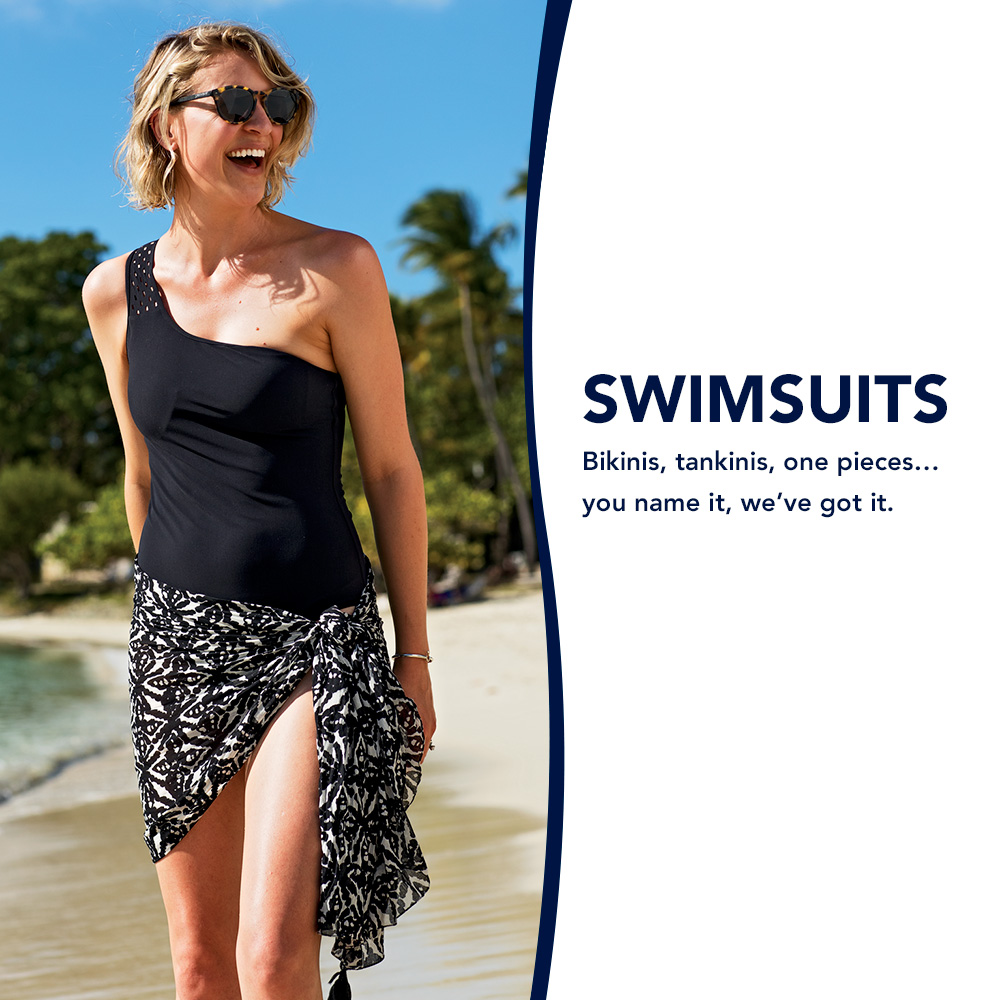 Swimsuits. Bikinis, tankinis, one pieces... you name it, we've got it.