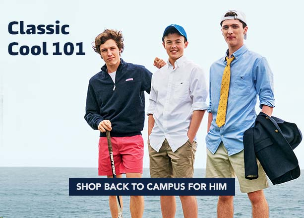 Classic Cool 101. Shop Back to Campus for Him