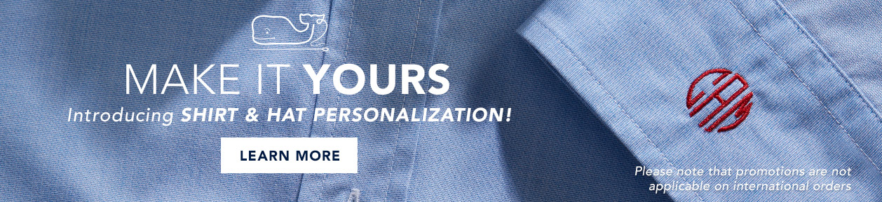 Make It Yours: Introducing Shirt & Hat Personalization! Learn More. Please note that promotions are not applicable on international orders.