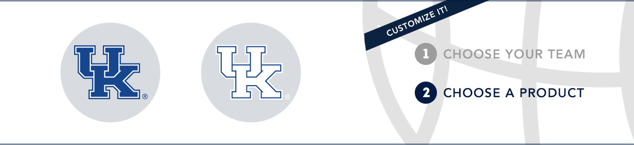 Kentucky Team Shop: 1) Choose your team. 2) Choose your product. Shop Here.