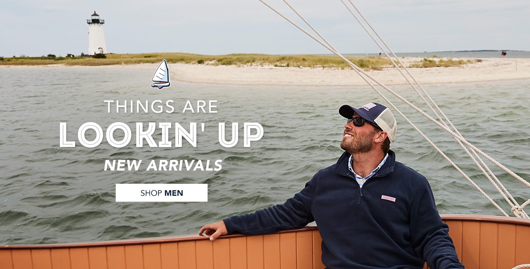 Things are lookin' up. New Arrivals for Men. Click here to shop Men's Clothing.
