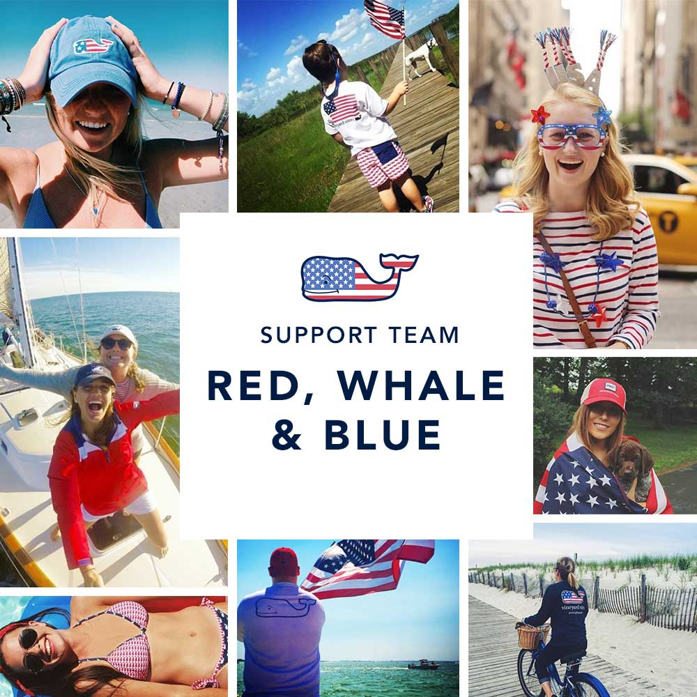 Support Team Red, Whale & Blue