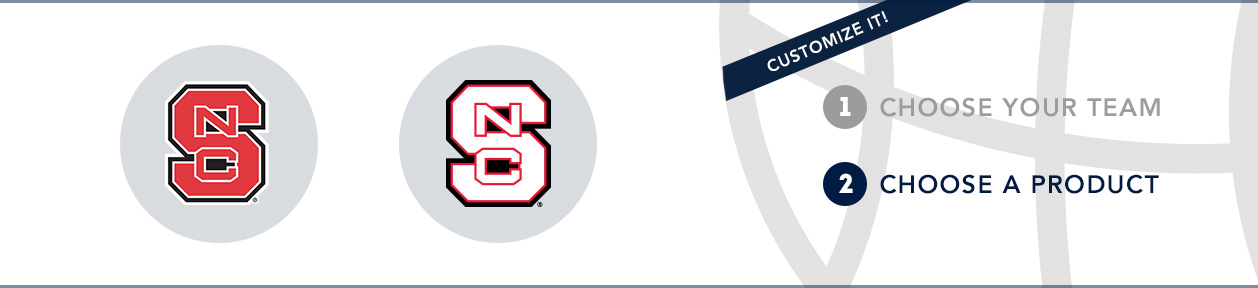 NC State Team Shop: 1) Choose your team. 2) Choose your product. Shop Here.