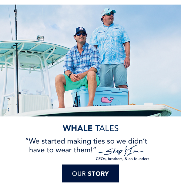 Whale Tales. Shep & Ian ride on a boat with ties. Read our story.