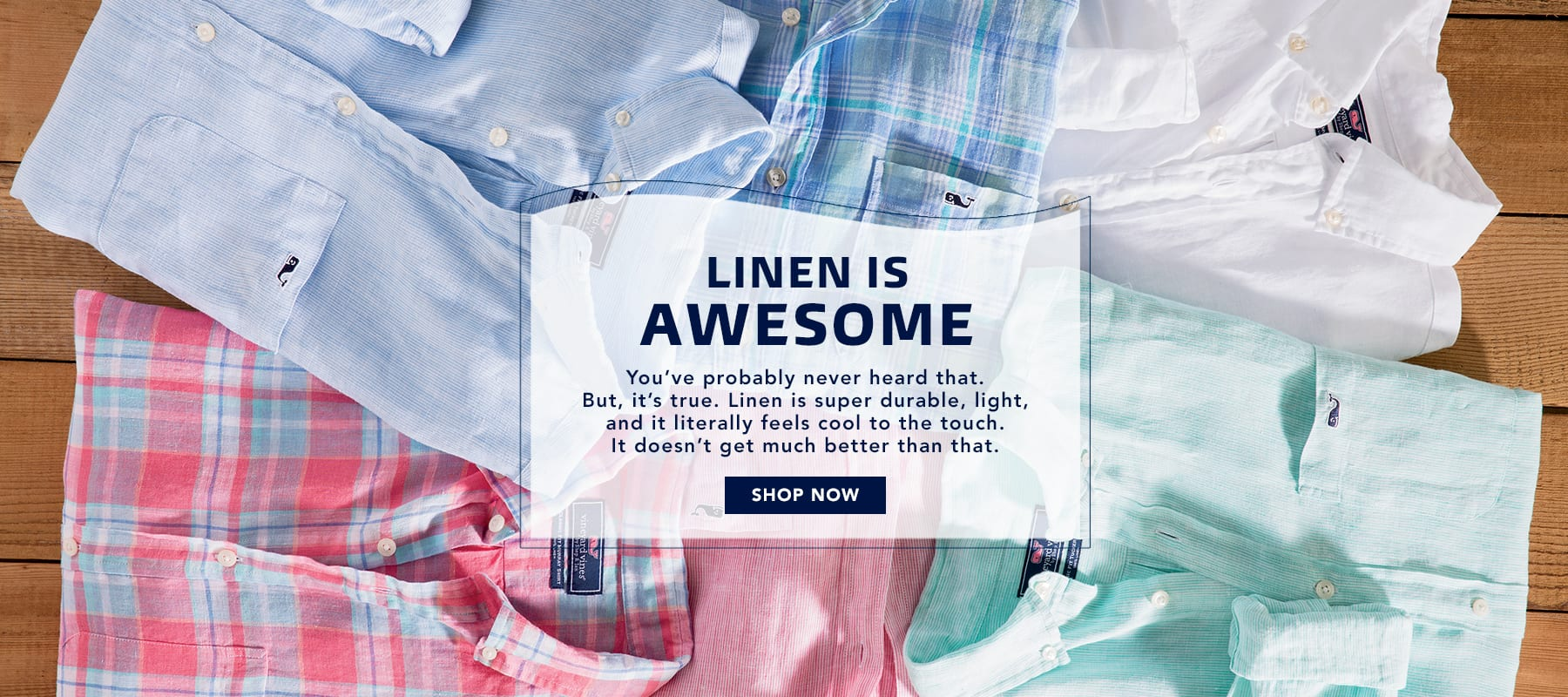 Linen is awesome. Shop Men's Linen Shirts.
