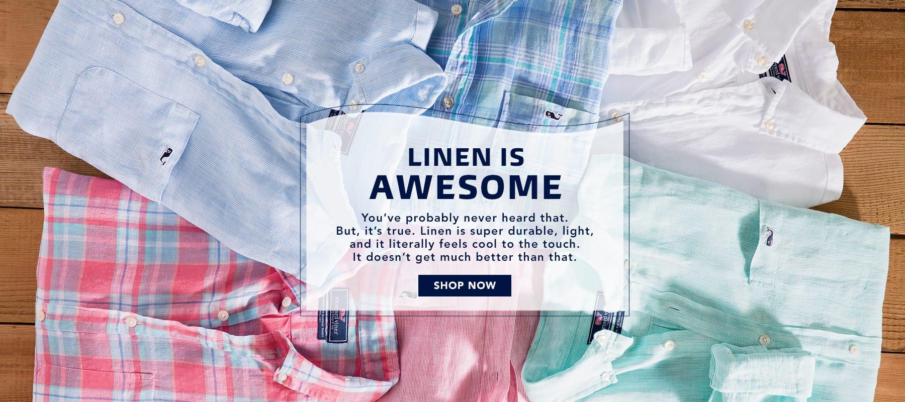 Linen is awesome. Shop Men's Linen Shirts.