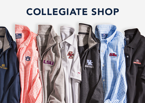 Collegiate shop. Shop now.
