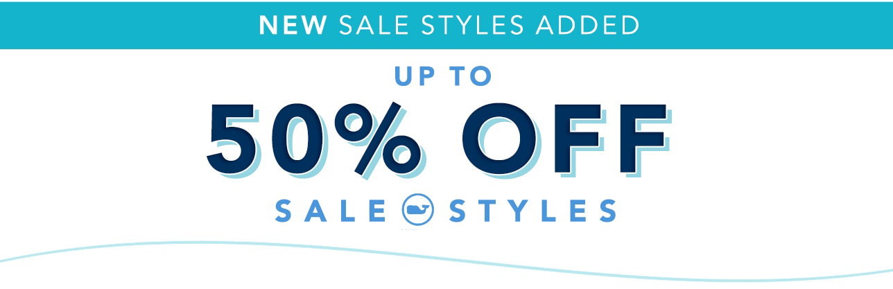 New Sale Styles Added. Up to 50% off