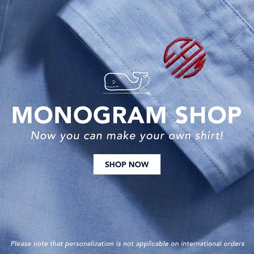 Monogram Shop: Now you can make your own shirt! Shop Now! Please note that personalization is not applicable on international orders