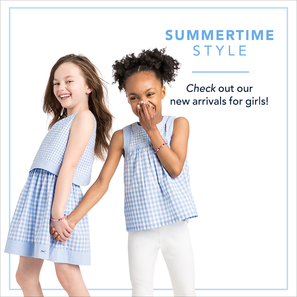 Summertime Style: Check out our girls new arrivals for girls! Shop Now