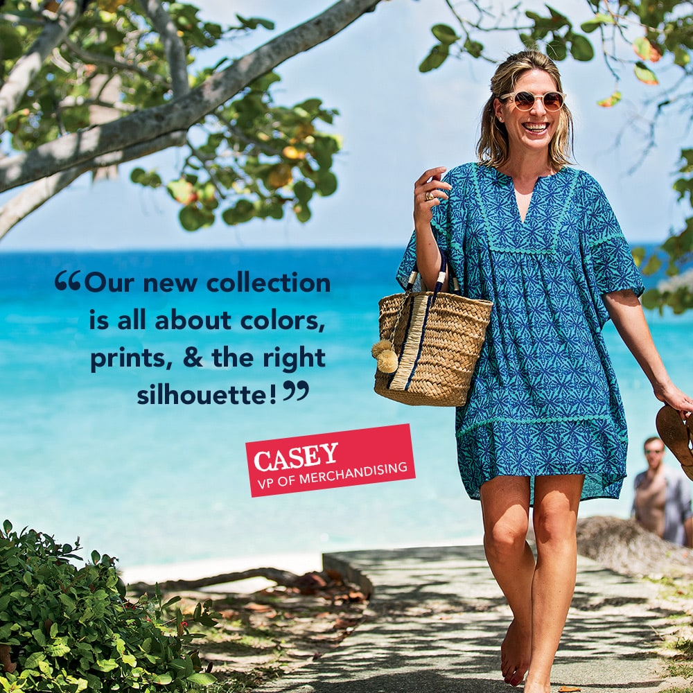 Our new collection is all about colors, prints, & the right silhouette! - Casey