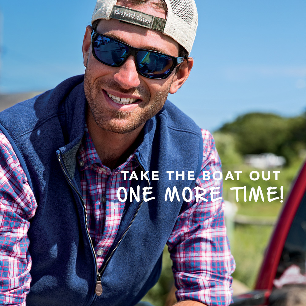 Take the boat out one more time. Mens New Arrivals.