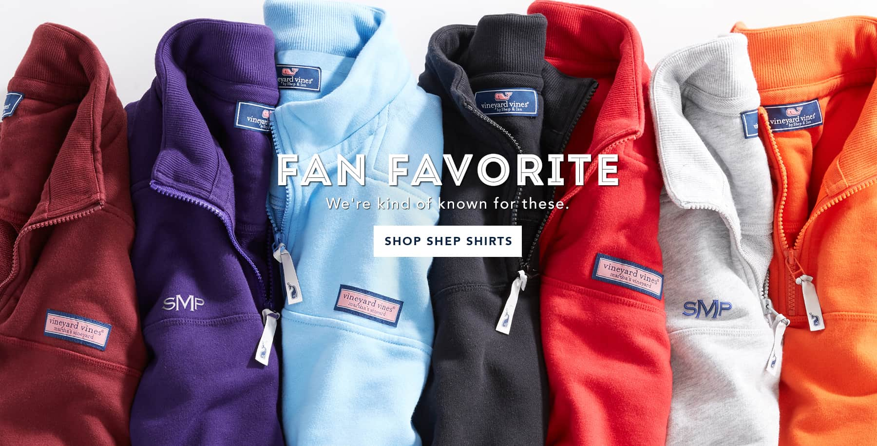Fan favorites. We're kinda known for these. Shop Shep Shirts.