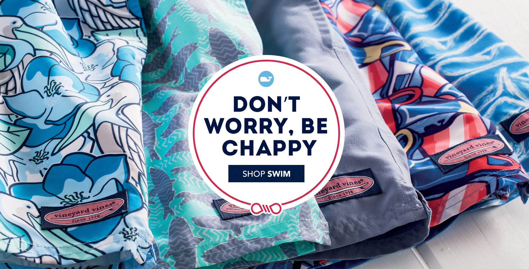 Don't worry, be chappy. Shop Swim.