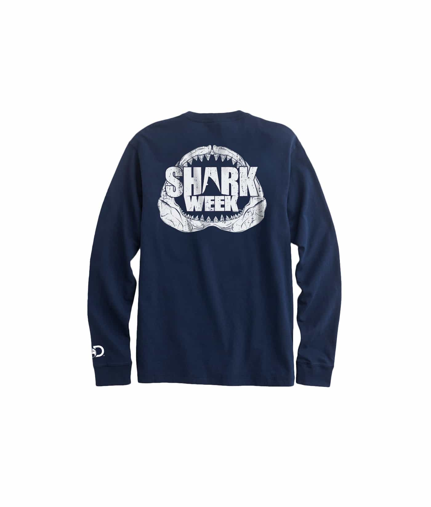 Mens Shark Week Long-Sleeve Jaws T-Shirt