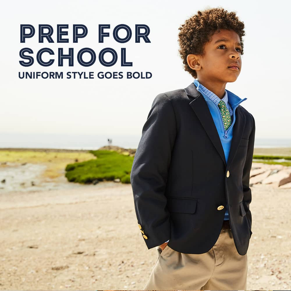 Prep for school. Uniform style goes bold.