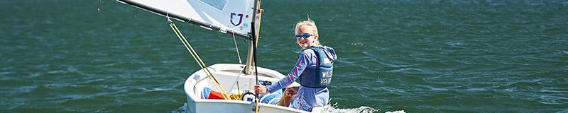 samara walshe enjoys a sail on the water