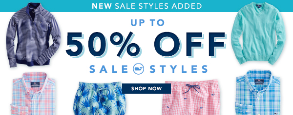New sale styles added. Up to 50% off sale styles. Ready, set, summer!  Shop now.