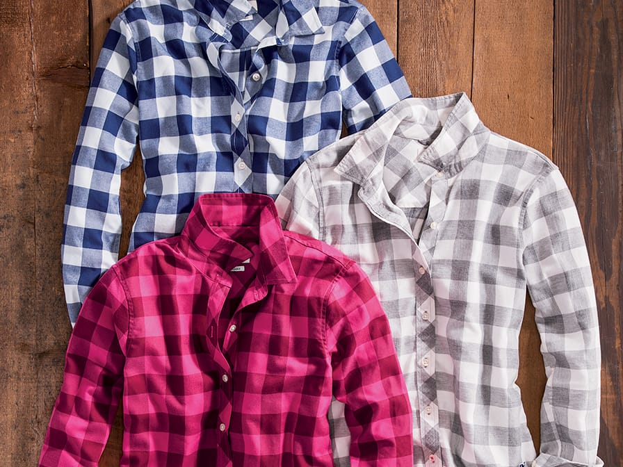 Women's performance flannels.