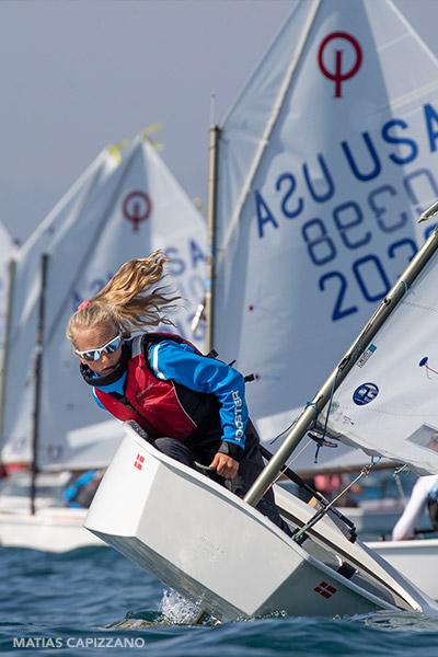 samara walshe demonstrating her elite sailing ability