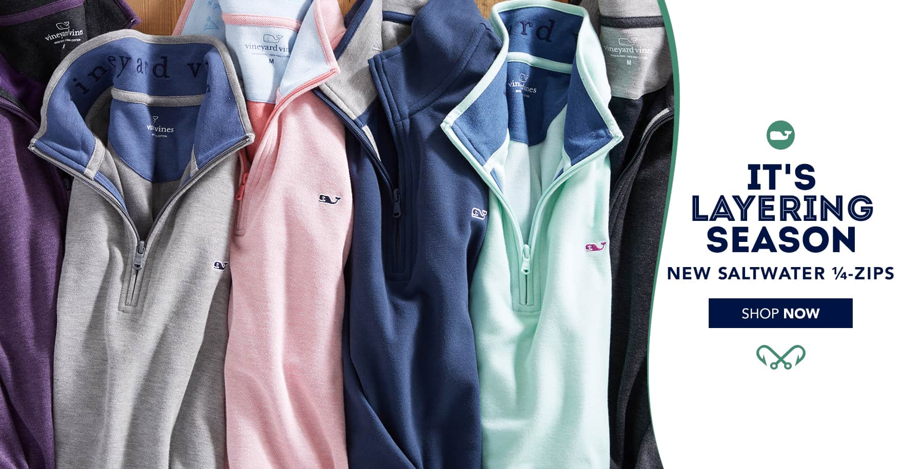 It's layering season. New Saltwater 1/4-Zips for Men. Shop now.