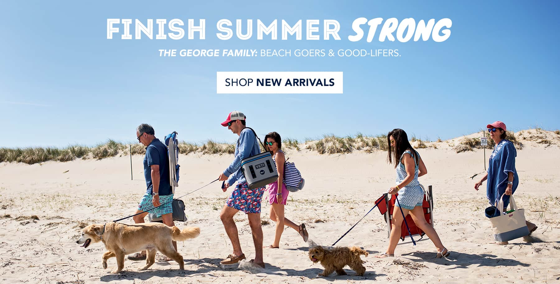 Finish Summer Strong. The Georges Family: Beach Goers & Good-Lifers. Kelly & Caitlin are vineyard vines teammates... and sisters! Shop New Arrivals.