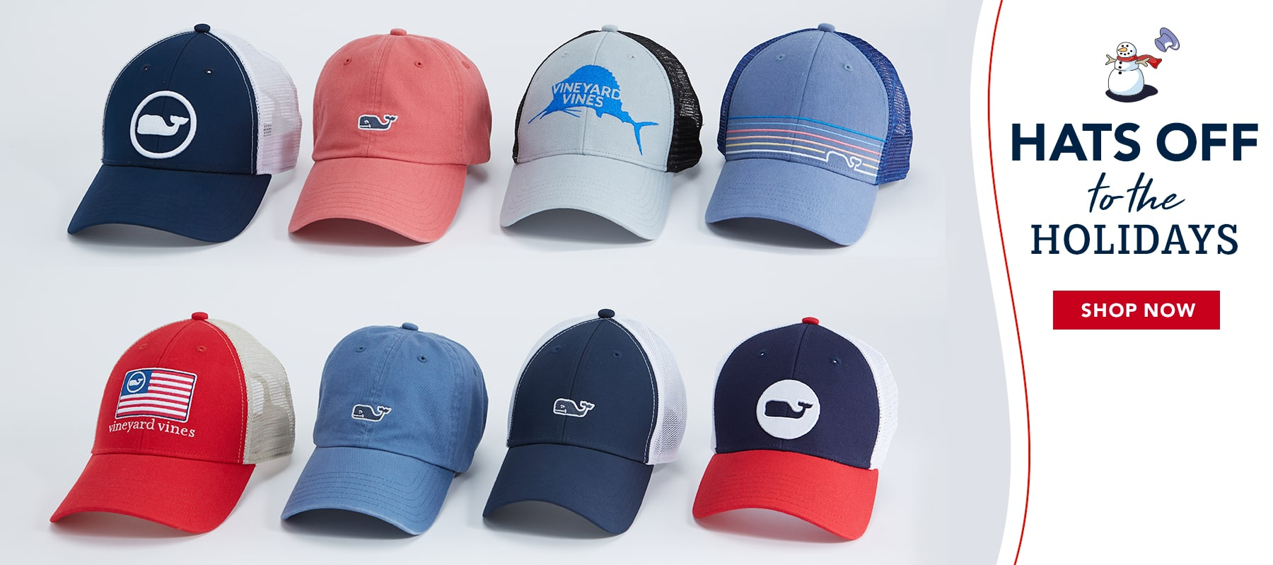 Hats off to the holidays. Shop now.