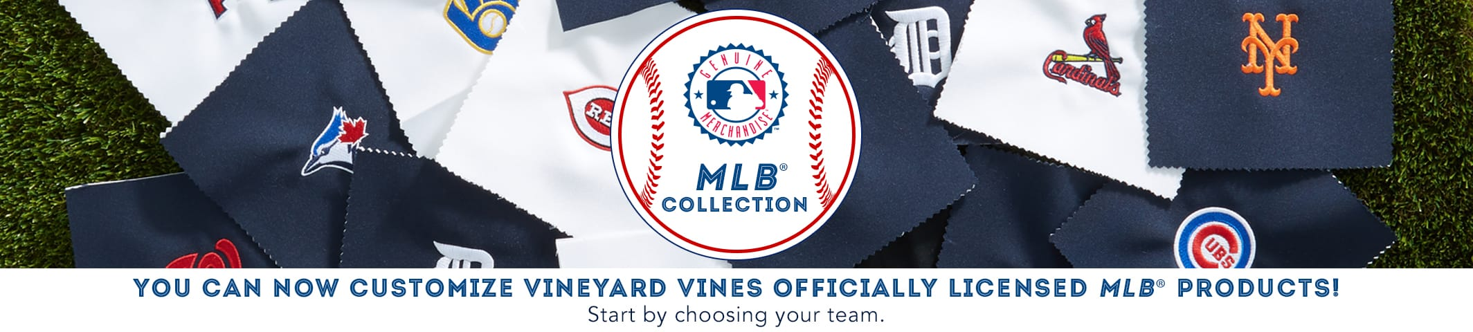 You can now customize vineyard vines official MLB products! Start by choosing your team below.