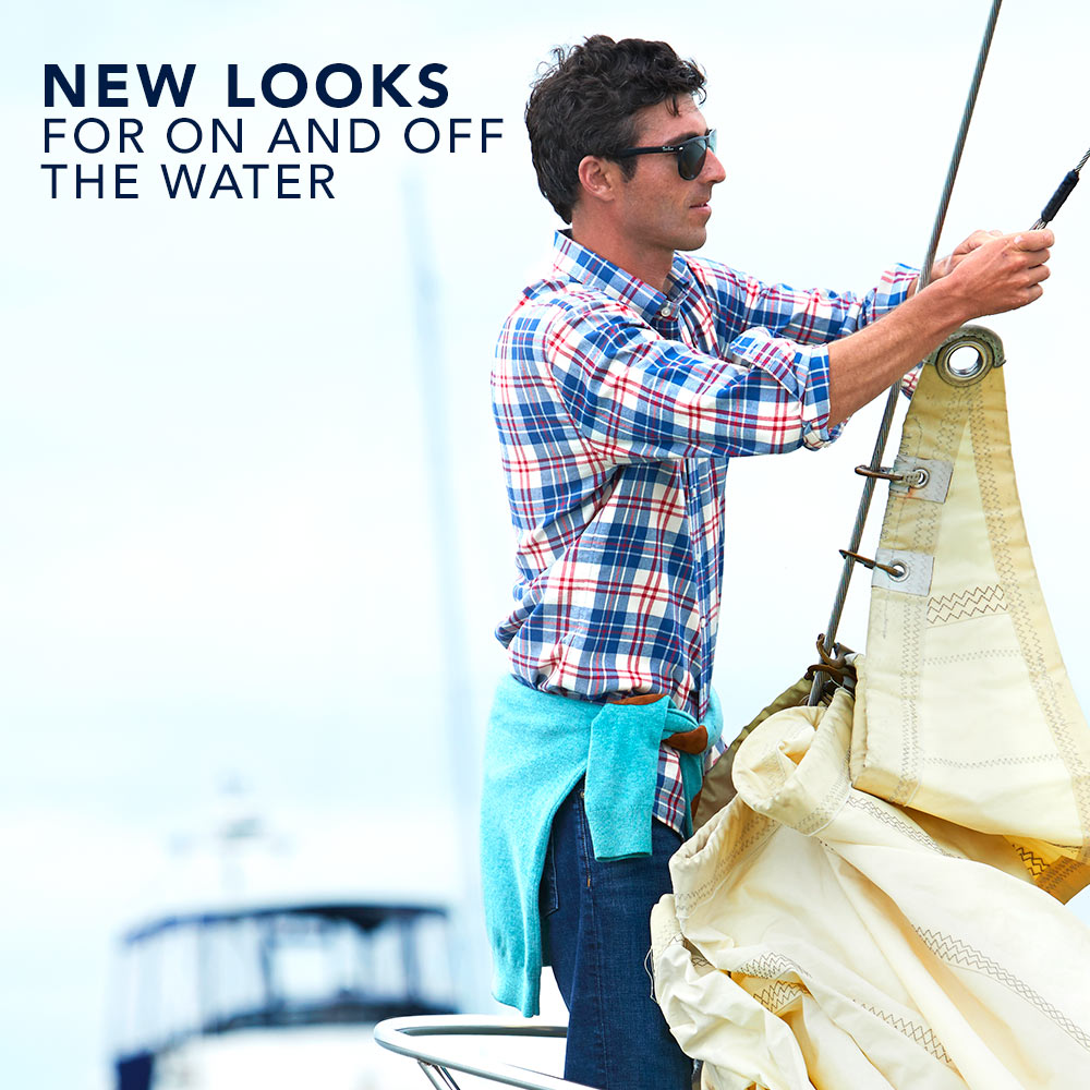 New Looks For On and Off the Water. Men's New Arrivals.