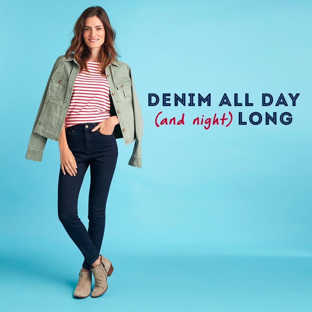 Denim All Day (and night) Long. Womens Denim Shop
